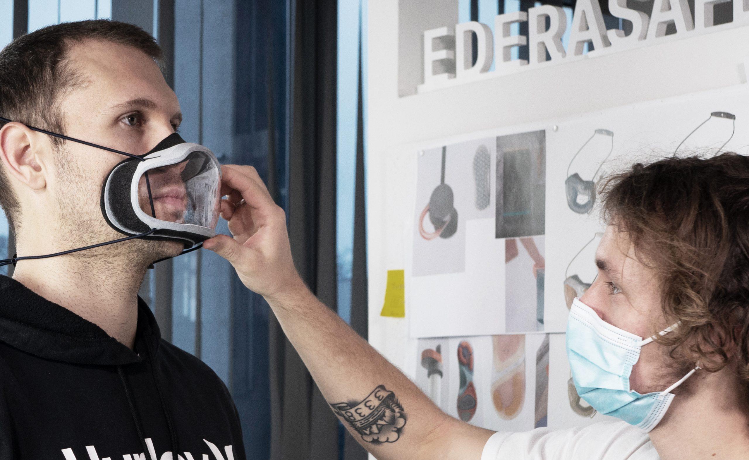Individuell auf die Gesichtszüge zugeschnitten: Premium-Maske von Edera Safety (Credit: Edera Safety)