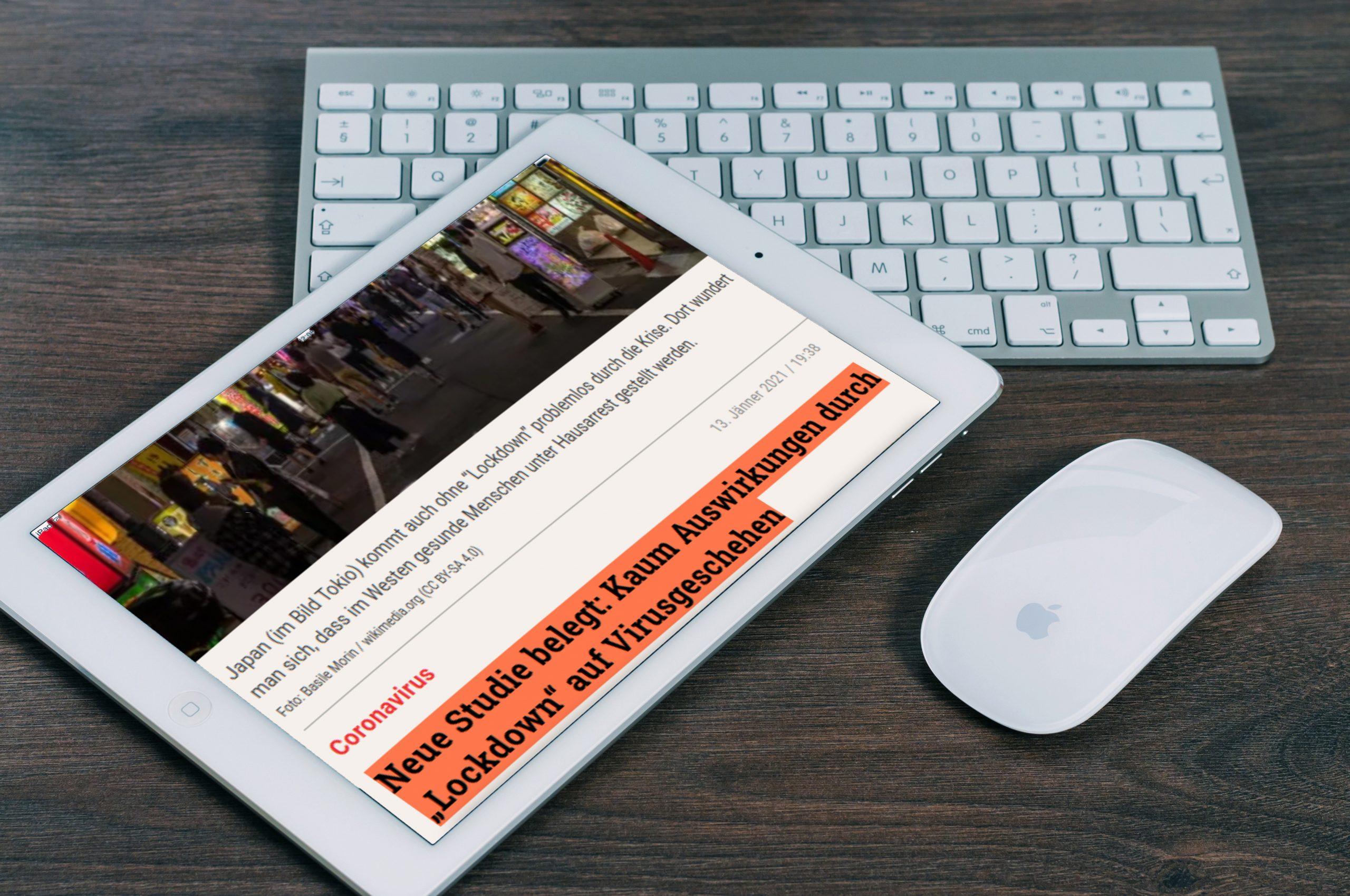 """Factinsect identifiziert """"Fake News"""": Unwahre Informationen werden sofort orange markiert. (Credit: Factinsect)"""