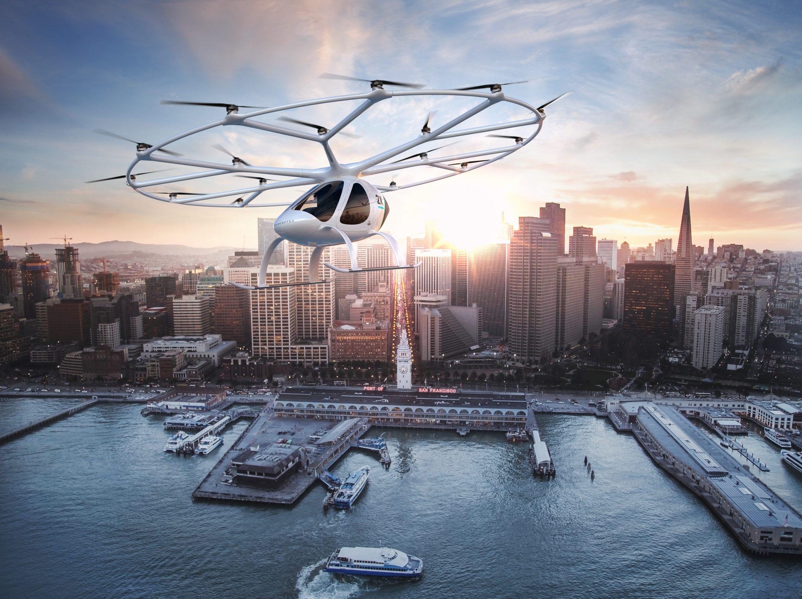 Luft-Taxis könnten schon in wenigen Jahren das Bild größerer Städte prägen – auch oststeirisches Know-how von M&H geht dabei in die Luft (Credit: Government of Dubai).