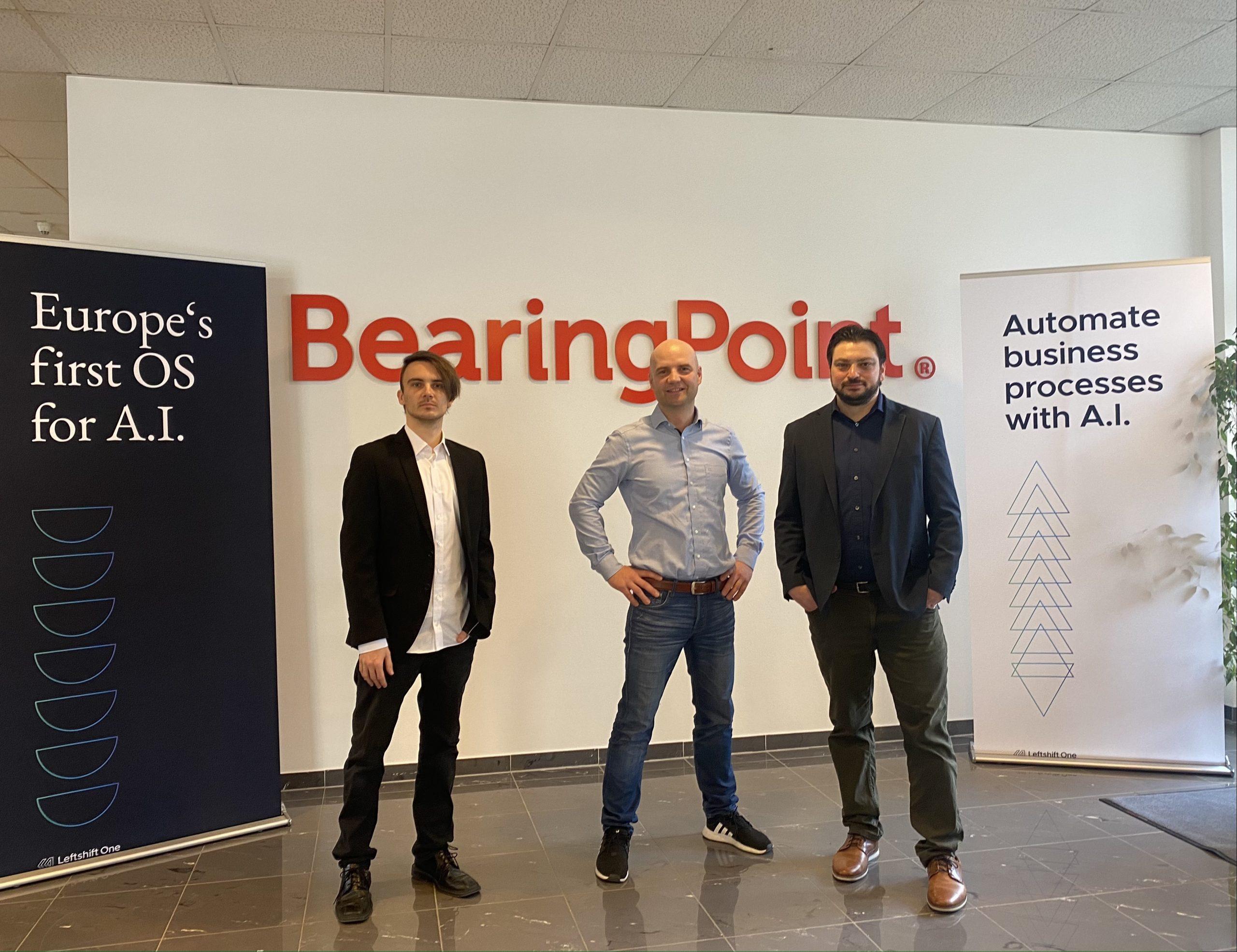 Setzen auf Hyperautomation: Leftshift One-CTO Christian Weber, BearingPoint Austria-Geschäftsführer Markus Seme und Leftshift One-CEO Patrick Ratheiser (v. l.) (Foto: CS)