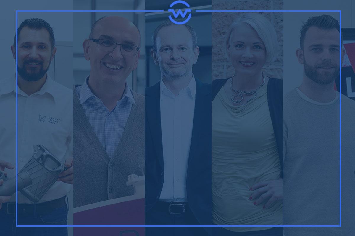 Das Wirtschaftswelt-Quintett im Februar: Patrick Herzig, Walter Starzacher, Gerald Hofer, Silja Kempinger und Thomas Raser