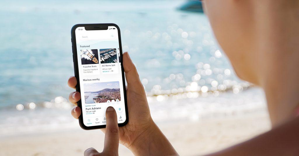 Die aktuell entwickelte Seasy-App findet auf Knopfdruck den nächsten freien Anlegeplatz. (Foto: Seasy)